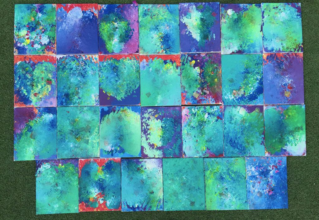 Pintura a mano para niños, actividades para niños Montessori, actividades para niños en edad preescolar Montessori, arte, lienzo, pintura acrílica