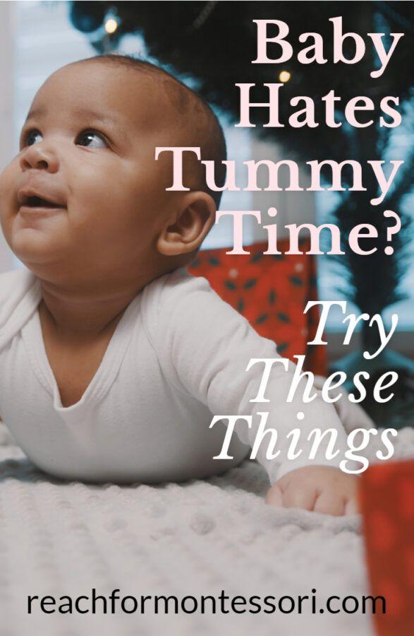 ¿Odia el bebé el tiempo boca abajo? Pruebe estos consejos: la mamá con mentalidad Montessori 1