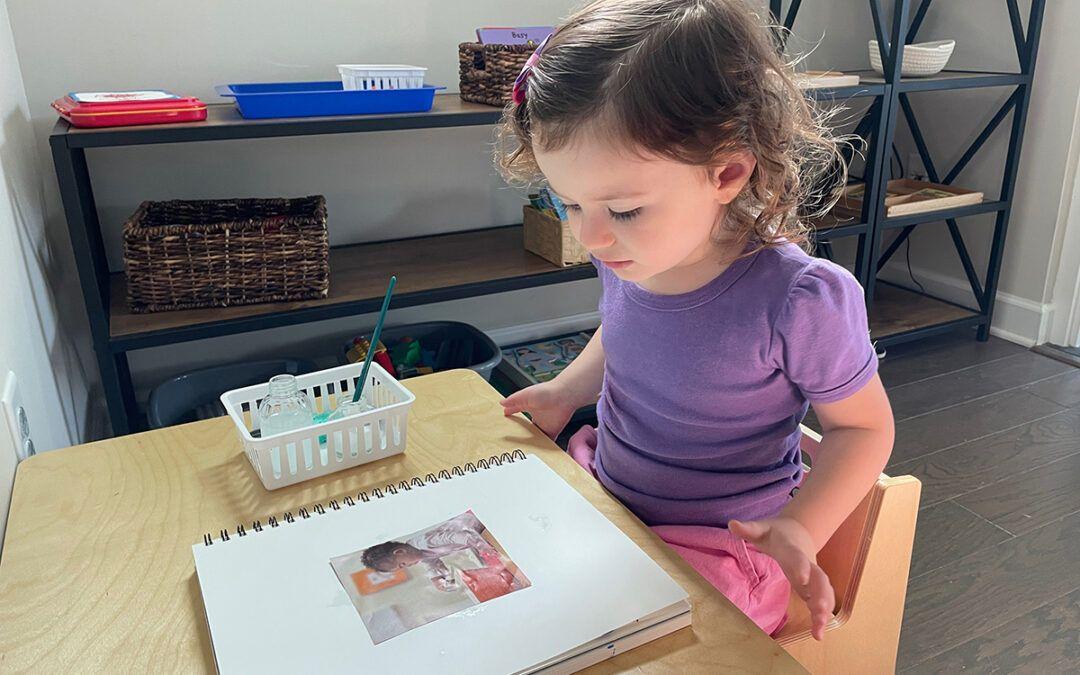 storytelling, dictation, picture story, storybook, journal for preschoolers, montessori, activities, homeschooling, montessori at home, toddler activities, montessori language curriculum