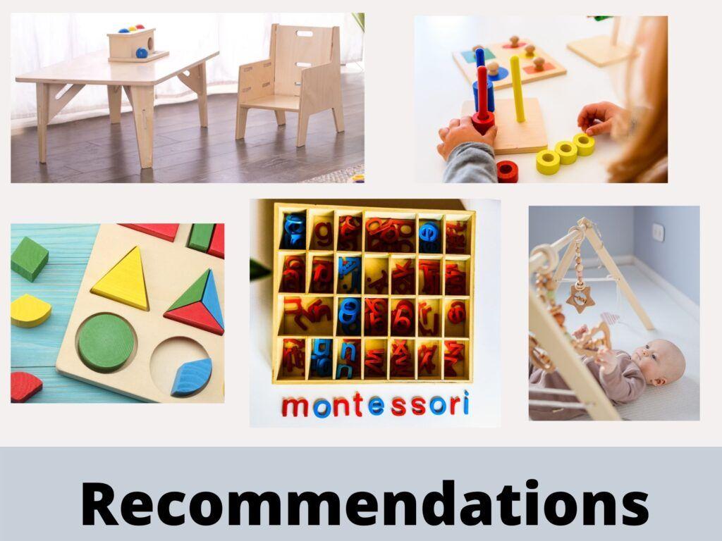 Recomendaciones para Montessori