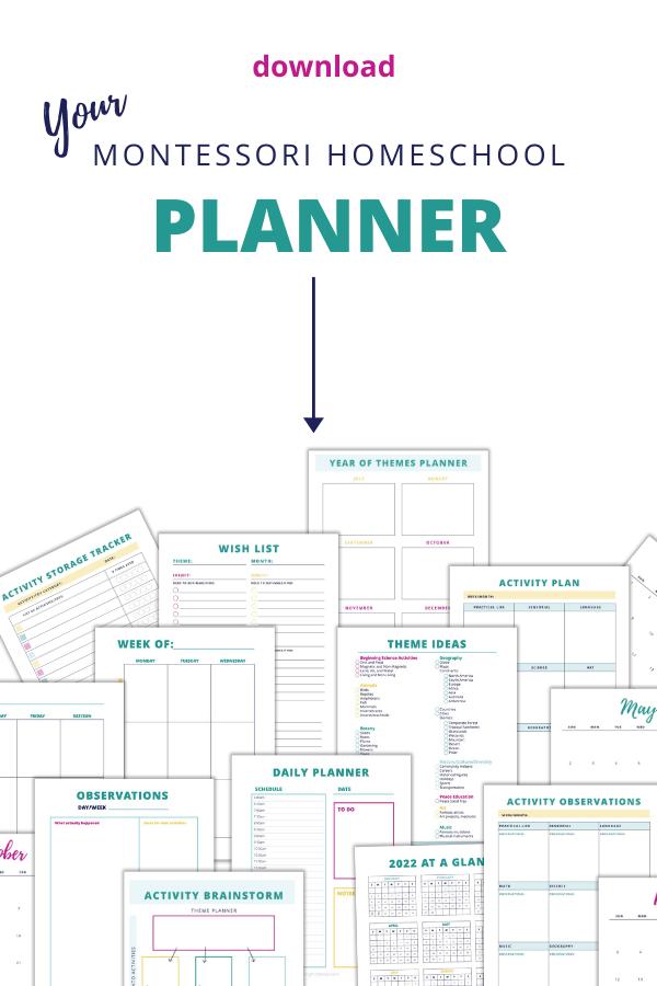 Planificador De Educación En Casa, Montessori, Educación En El Hogar, Niño Pequeño, Preescolar, Jardín De Infantes, Actividades, Planificación, Calendario, Organización