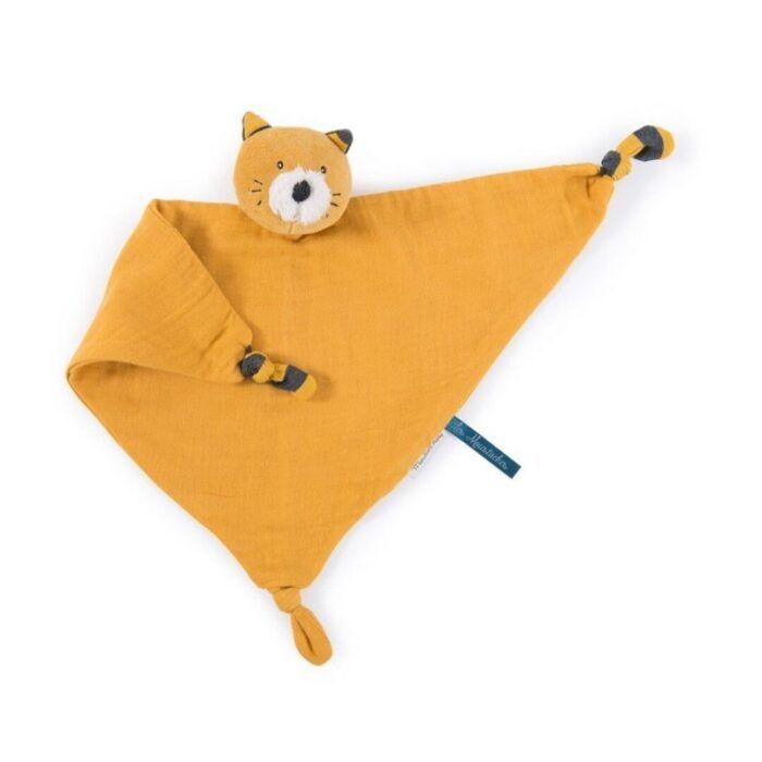 Doudou gato mostaza 1