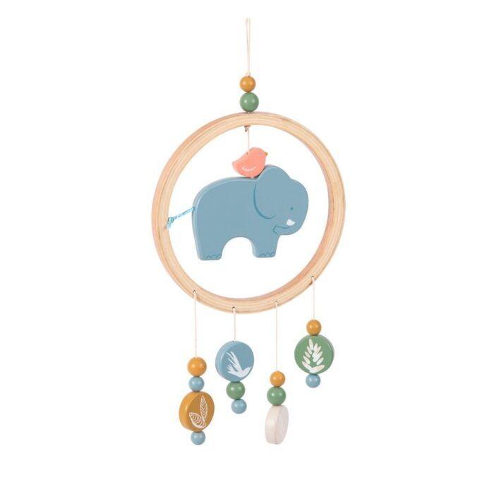 Móvil elefante bebé Moulin Roty 1