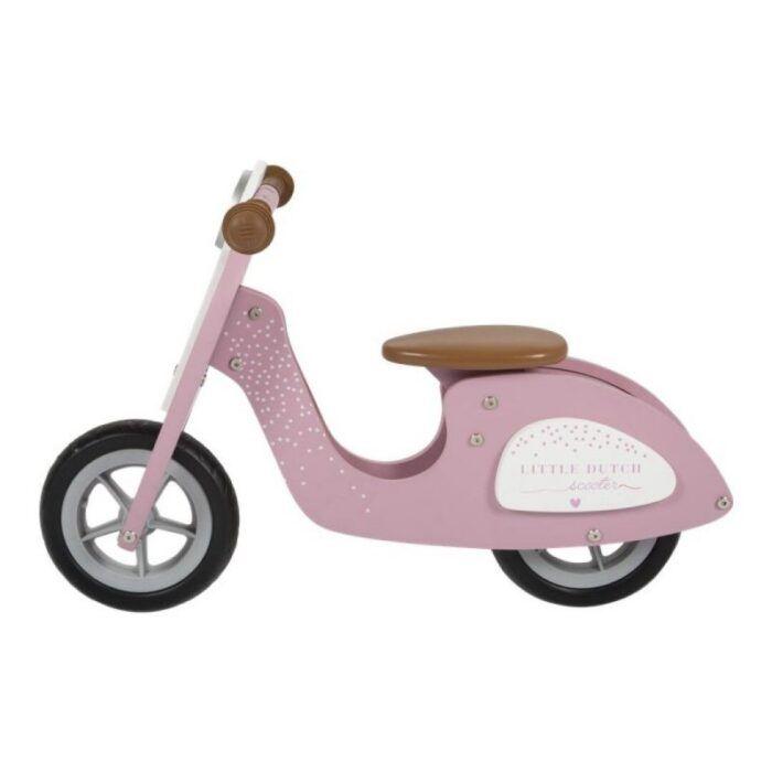 Scooter madera rosa 1