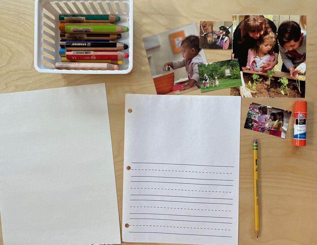 diario para niños en edad preescolar, montessori, dictado, libro de cuentos, currículo de idiomas, cuento ilustrado