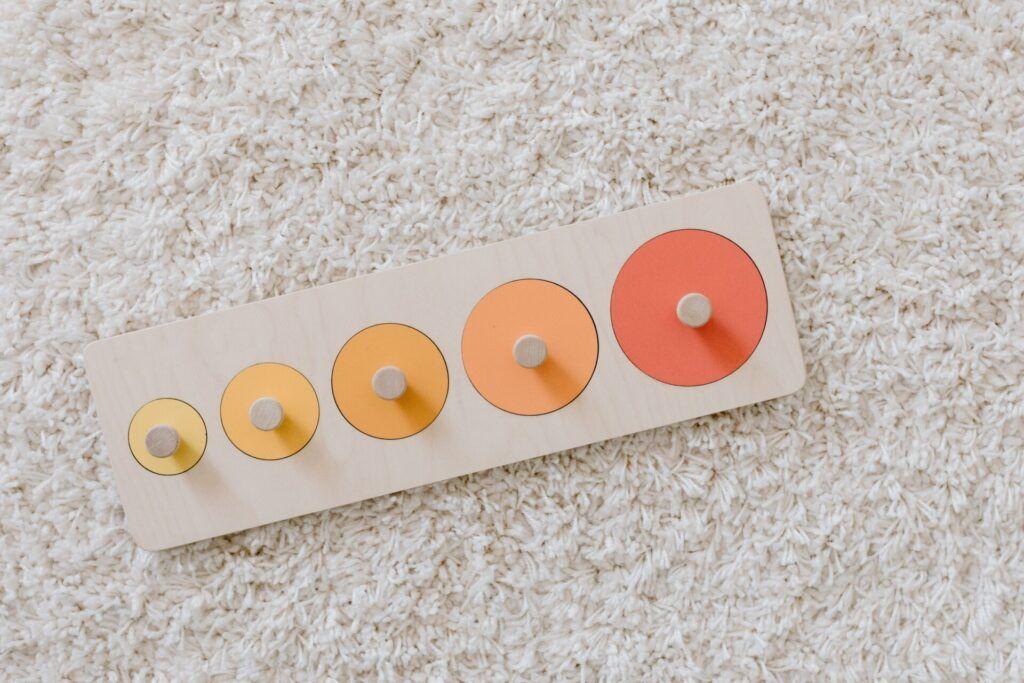 imagen del rompecabezas de piezas Montessori.