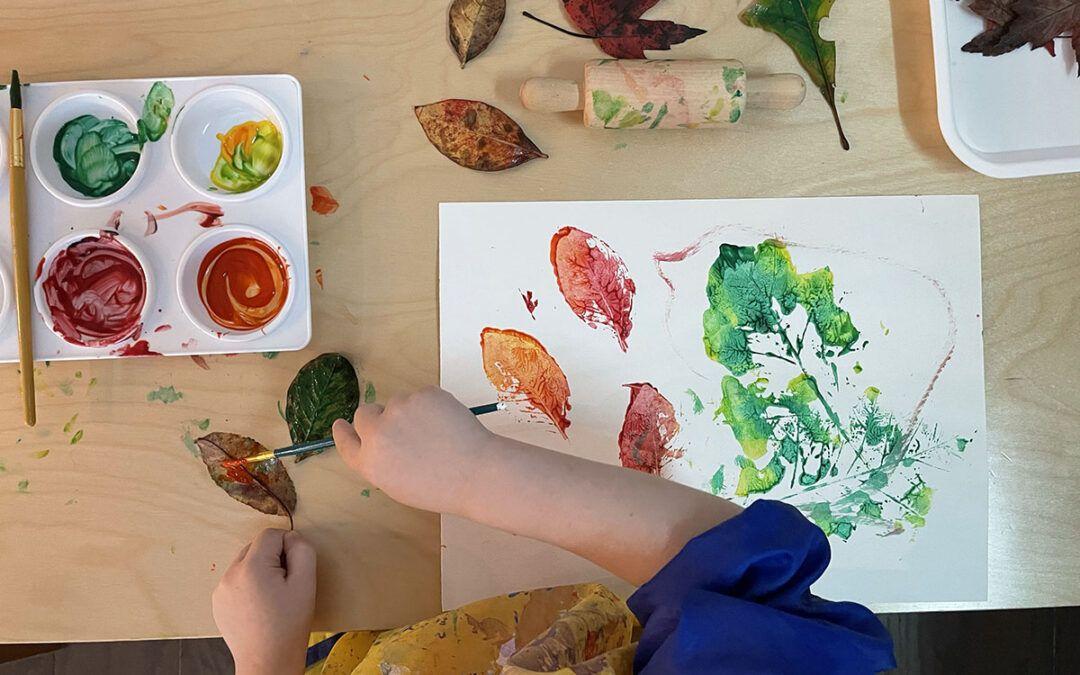 7 increíbles actividades foliares para preescolares más un imprimible